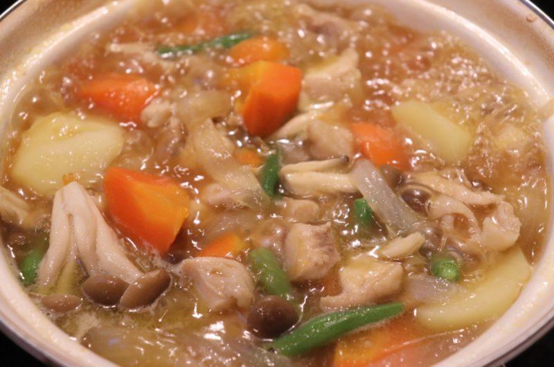【男子ごはん】インゲンのにんにくスープのレシピ|スタミナ料理【5月24日】
