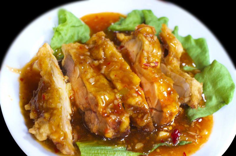 【ノンストップ】さっぱりダレのピリ辛油淋鶏のレシピ|クラシル|エッセ【7月1日】
