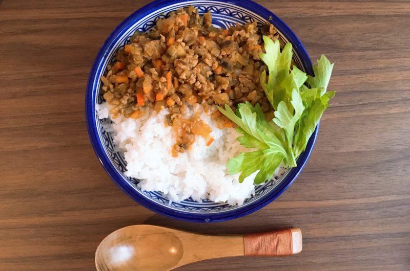 【ほんわかテレビ】柿の種ドライカレーのレシピ【7月3日】