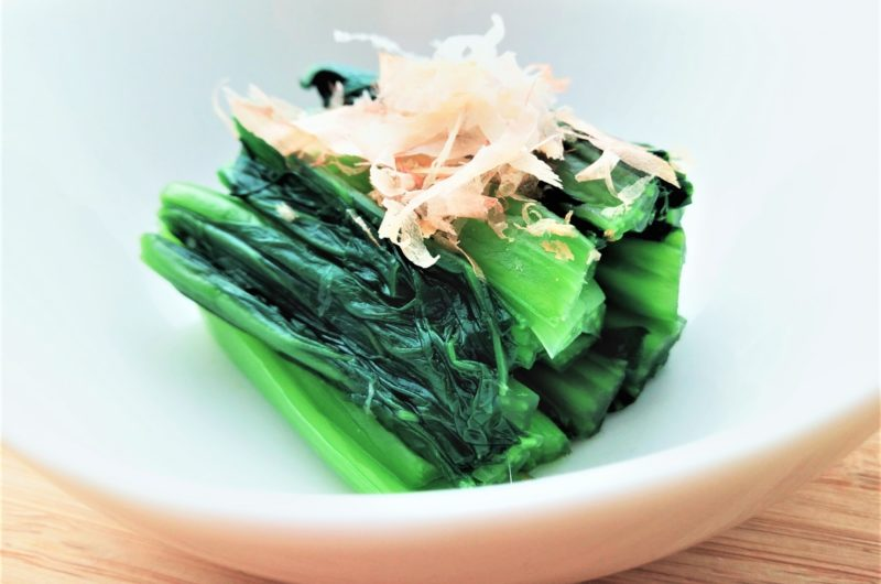 【おは朝】小松菜のポン酢おかか和えのレシピ ほったらかしごはん おはよう朝日です【7月28日】