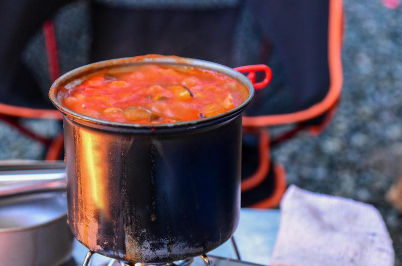 【シューイチ】メスティンでトマト煮込みのレシピ【7月26日】