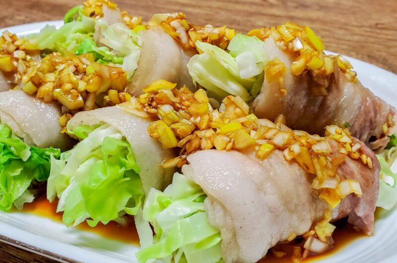 【ノンストップ】レンジでキャベツの肉巻きのレシピ ニラダレ クラシル エッセ【2月24日】