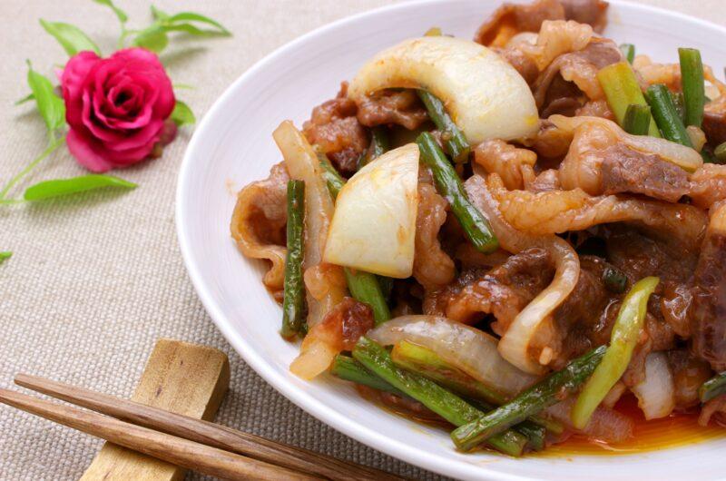 【きょうの料理】牛肉と春野菜の香り炒めのレシピ|白井操【4月16日】