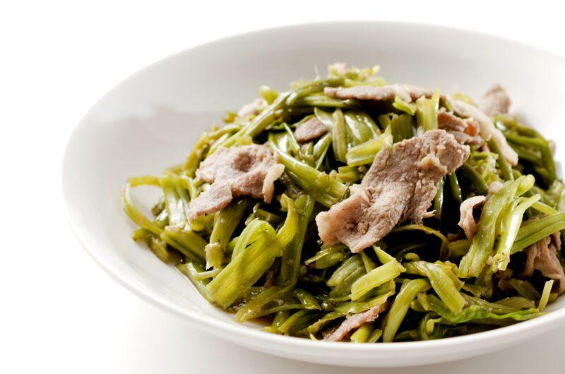 【ノンストップ】豚バラと空心菜のさっぱり梅炒めのレシピ|坂本昌行|エッセ【7月21日】