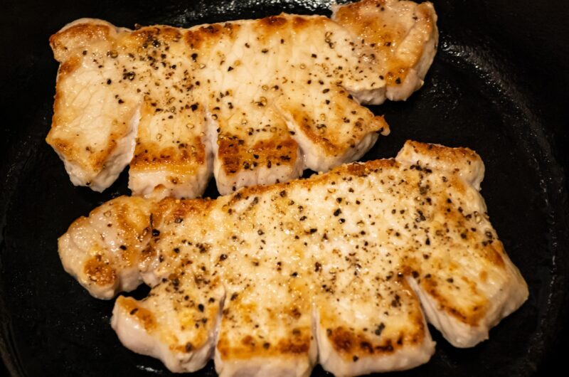 【男子ごはん】スキレットで香福豚のソテー ブルーベリーソースのレシピ【8月9日】