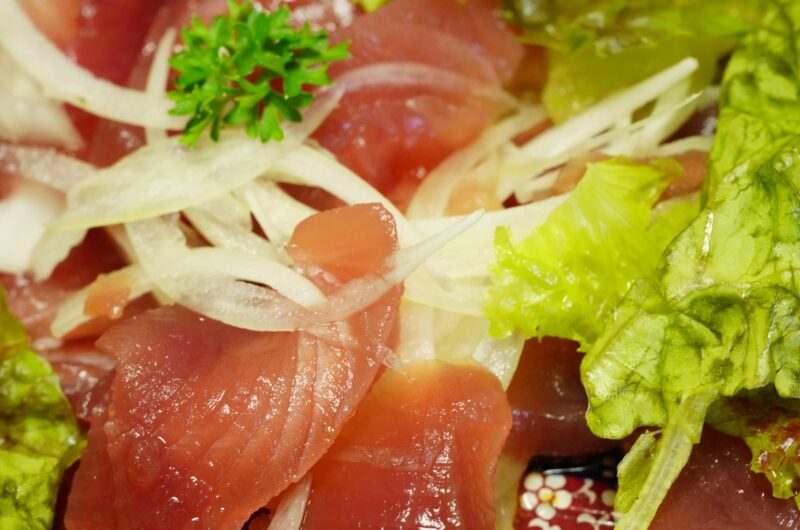 【ウワサのお客さま】まぐろのカルパッチョ風サラダのレシピ|長田知恵 時短クイーン|ゆーママ【9月3日】